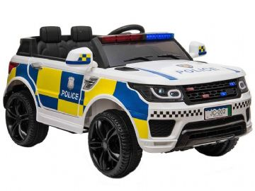 Police Range Rover Style White Jeep 12v Electric Ride On Car With Parental Radio Control